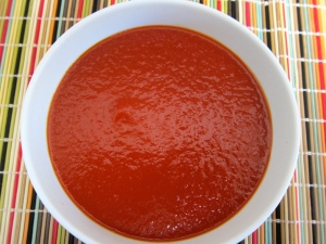"""loso"" ketchup: a homemade, reduced version of traditional tomato ketchup."