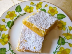 Meyer lemon bars: a classic lemon bar recipe that uses Meyer lemon juice and zest to produce an intensely flavored lemon bar.